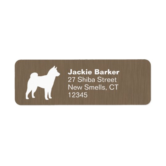 Shiba Inu Silhouette Return Address Label
