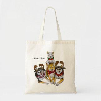 Shiba Inu Sisters Kikko Sasha Momo Hina Tote Bag