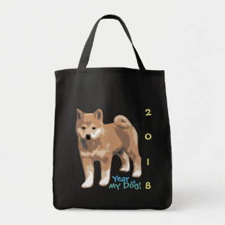 Shiba inu Year of my Dog 2018 Grocery Bag