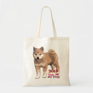 Shiba inu Year of my Dog 2018 Tote Bag