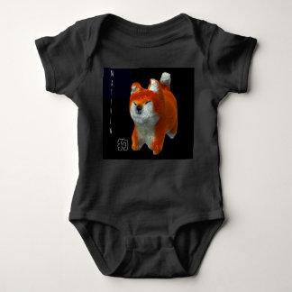 Shiba Puppy 3D Art Dog Year Name Baby Bodysuit