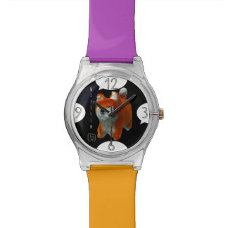 Shiba Puppy 3D Art Dog Year Name Watch