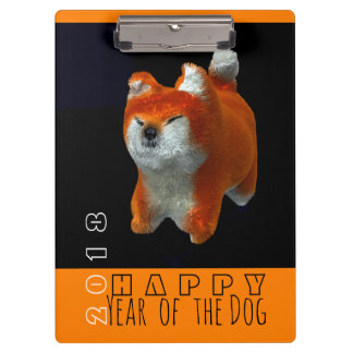 Shiba Puppy 3D Digital Art Dog Year 2018 Clipboard