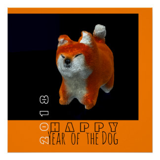 Shiba Puppy 3D Digital Art Dog Year 2018 S Poster