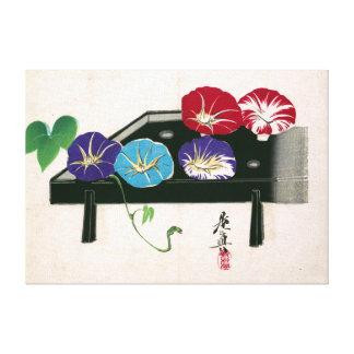 Shibata Zeshin Morning Glories Canvas Print