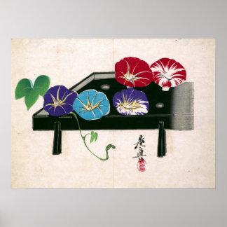 Shibata Zeshin Morning Glories Poster