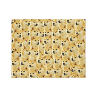shibe doge fun and funny meme adorable gallery wrapped canvas