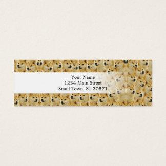 shibe doge fun and funny meme adorable mini business card