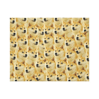 shibe doge fun and funny meme adorable stretched canvas print