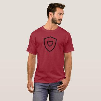 Shield Heart on Maroon T-Shirt