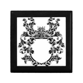 Shield Knight Heraldic Crest Coat of Arms Emblem Gift Box