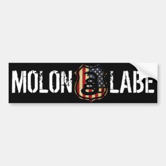 shield, MOLON, LABE Bumper Sticker