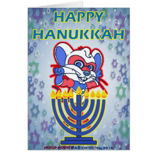 SHIELD MOUSE Happy Hanukkah Card 2016