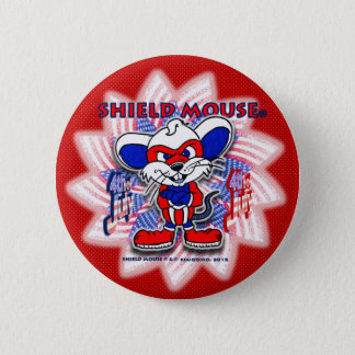 SHIELD MOUSE Happy July 4th. 2015 (Red) Button
