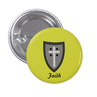 Shield of Faith Pinback Buttons
