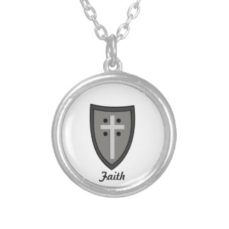 Shield of Faith Silver Plated Necklace
