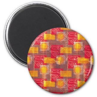 Shield Orange and Red 6 Cm Round Magnet