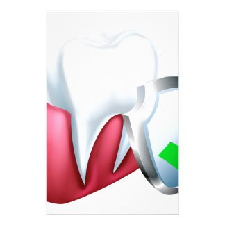 Shield Tooth and Gum Stationery