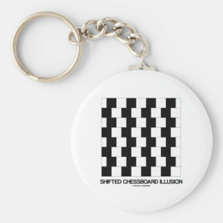 Shifted Chessboard Illusion (Optical Illusion) Key Chains