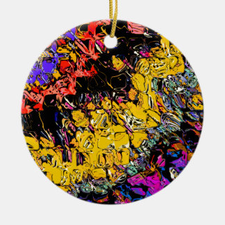 Shifting Shapes And Colors Ceramic Ornament