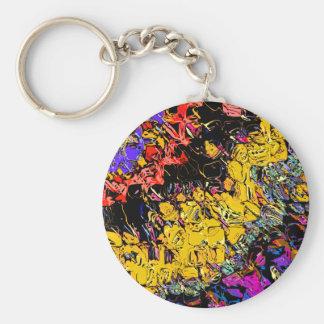 Shifting Shapes And Colors Key Ring