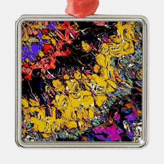 Shifting Shapes And Colors Metal Ornament