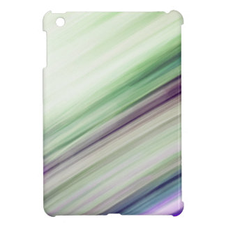 Shifty Green  Blured Stripes Design Case For The iPad Mini