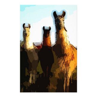 Shifty llamas customized stationery