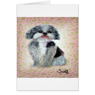 Shih-Poo Greeting Card