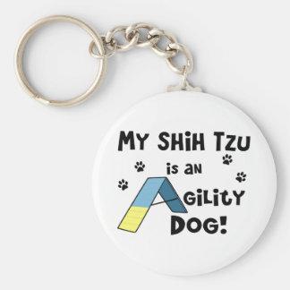 Shih Tzu Agility Dog Keychain