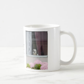 Shih Tzu and Hydrangea Blooms Mug