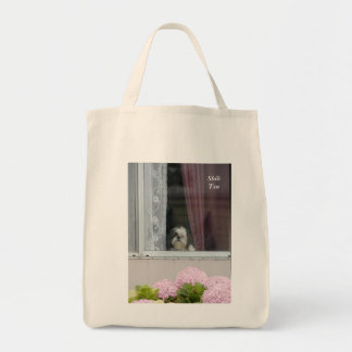 Shih Tzu and Hydrangea Blooms Tote