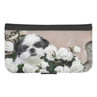Shih Tzu and Roses Samsung S4 Wallet Case