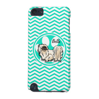 Shih Tzu Aqua Green Chevron iPod Touch (5th Generation) Case