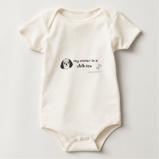 shih tzu baby bodysuit