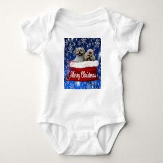 Shih tzu Baby Bodysuit, Christmas Baby Bodysuit