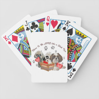 Shih Tzu Basket Of Love Poker Deck