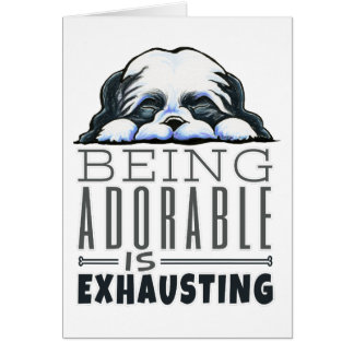 Shih Tzu Being Adorable Card