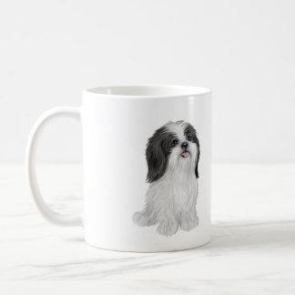 Shih Tzu - black and white (by JF) Coffee Mug