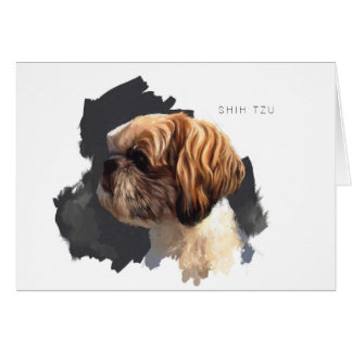 Shih Tzu Blank Greeting Card