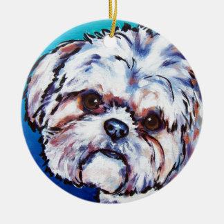 Shih Tzu blue Ceramic Ornament