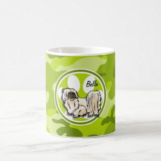 Shih Tzu bright green camo camouflage Mug