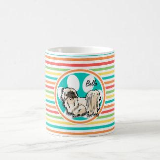 Shih Tzu Bright Rainbow Stripes Mug