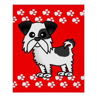 Shih Tzu Cartoon Poster