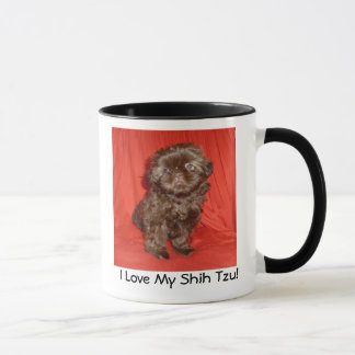 Shih Tzu Chocolate Puppy  Mug