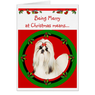 Shih Tzu Christmas Card