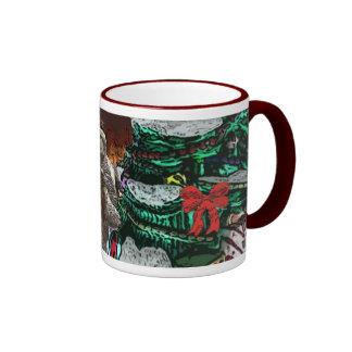 Shih Tzu Christmas Hearth and Tree Ringer Mug
