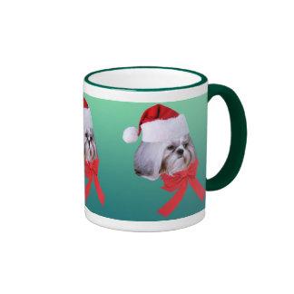 Shih Tzu Christmas Mug