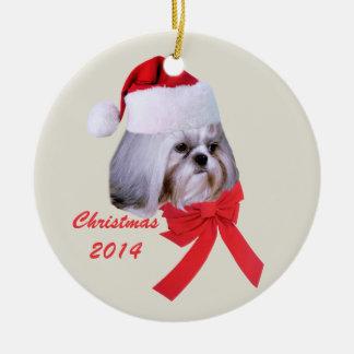 Shih Tzu Christmas Ornament Customizable