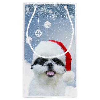 Shih Tzu Christmas Small Gift Bag